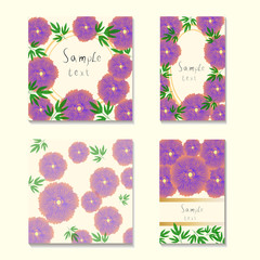 square and rectangular cards with the image of multi-colored sty