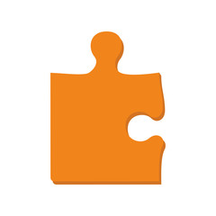 puzzle game piece part jigsaw icon. Isolated and flat illustration. Vector graphic