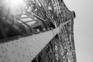 PARIS, FRANCE, on JULY 7, 2016. The Eiffel Tower - one of the main sights, a city symbol.
