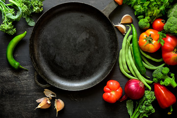 Season vegetables cooking concept