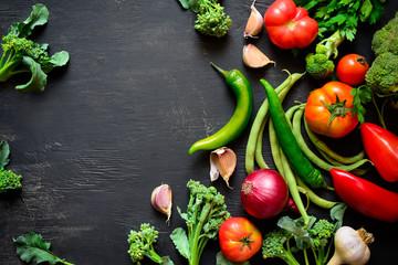 Season vegetables background