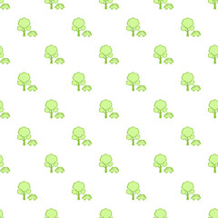 Simple green car and tree pattern