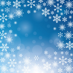 winter snowflake christmas blue icon. Colorfull and background illustration. Vector graphic