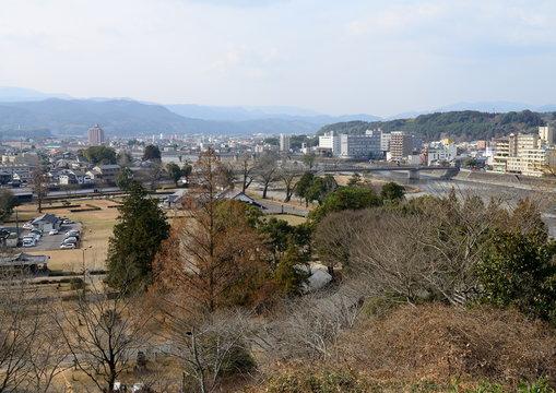 人吉城跡から見た人吉市街