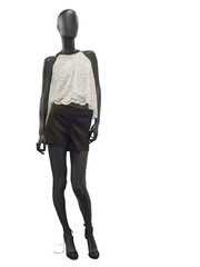 Female mannequin dressed in shorts and top