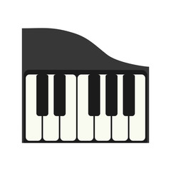 piano instrument music sound icon. Isolated and flat illustration. Vector graphic