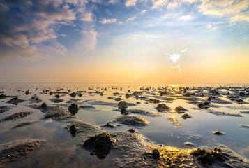 Türaufkleber Nordsee Lichtstimmung an der Nordsee