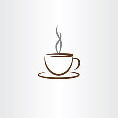 cup of coffee with smoke icon illustration
