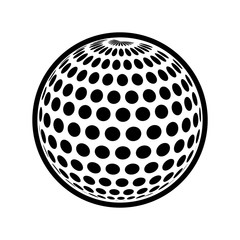 golf ball sport hobby game icon. Isolated and flat illustration. Vector graphic