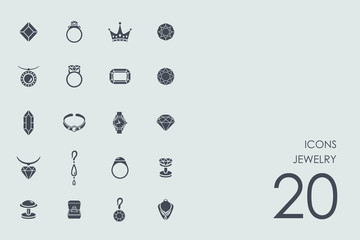Set of jewelry icons