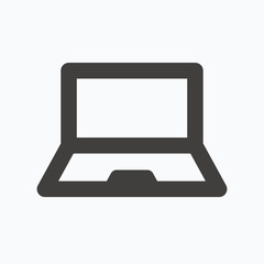 Computer icon. Notebook or laptop pc sign.