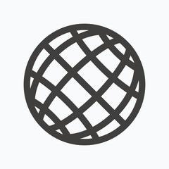 Globe icon. World or internet sign.