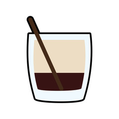cocktail drink alcohol glass beverage icon. Isolated and flat illustration. Vector graphic