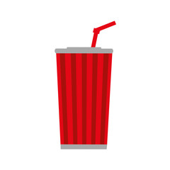 soda film movie cinema icon. Isolated and flat illustration. Vector graphic