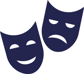Theater mask - good and bad