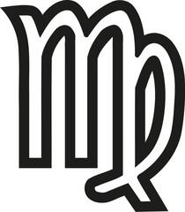 Virgo zodiac sign outline