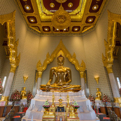 The Golden Buddha statue at Wat Traimit temple in Bangkok, Thailand.