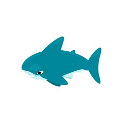 Vector cartoon - Hammerhead Shark  (Sphyrnidae)