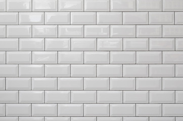 White brick wall for background or texture.