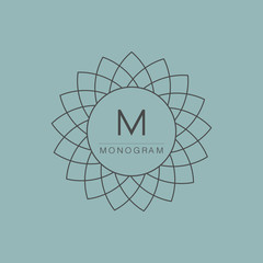 Set of simple and graceful monogram design templates, Elegant li