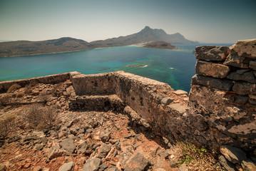 Crete, Greece: Venetian fort in Gramvousa island and Balos Lagoon