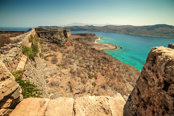 Crete, Greece: Venetian fort in Gramvousa island