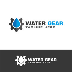 Service industries gear logo design vector