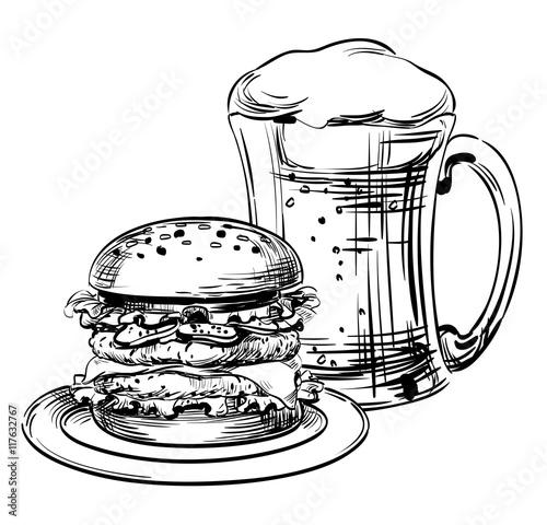 Simple Sandwich Drawing