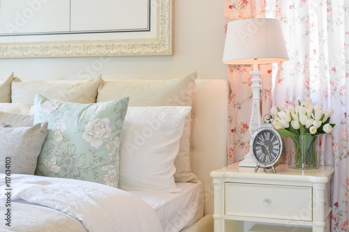 """""""vintage Bedroom Interior With Decorative Table Lamp"""