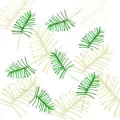 watercolor palm leaf pattern
