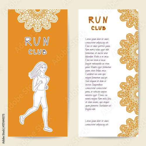Cards Sport Template For Run Club Sports Club And Fitness