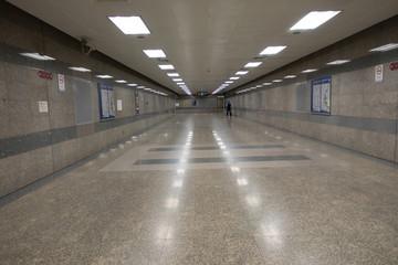 empty subway station floor
