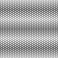 Seamless honeycomb gradient pattern background texture, Black and white.
