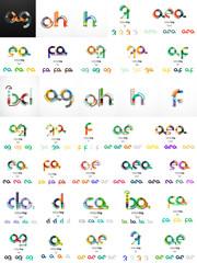 Set of vector initial branding letter logo templates