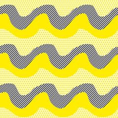 yellow abstract geometry pattern. modern seamless motif. vector