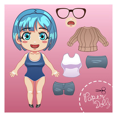 Cut Dress Up Paper Doll