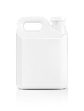 blank packaging white plastic gallon isolated on white backgroun