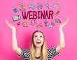 Webinar concept with young woman