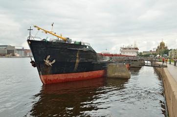 Cargo ship at berth.