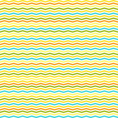 chevron and stripes vector seamless pattern in summer colors