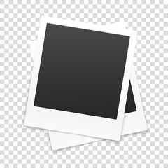 Vector paper frame isolated on transparent background. Vector il