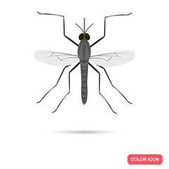 Color flat mosquito icon