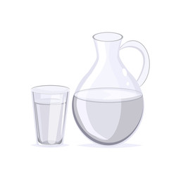 Fresh clear transparent healthy glass of water vector.