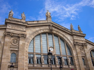 Aluminium Prints Train Station Gare du Nord train station