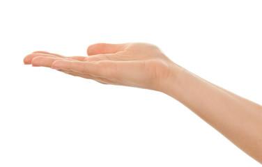 isolated female hand