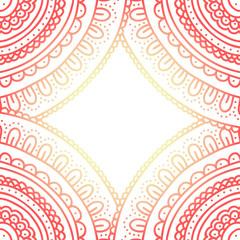 Beautiful ornament card. Shining frame. Vector illustration.