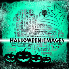 Halloween Images Means Trick Or Treat And Celebration