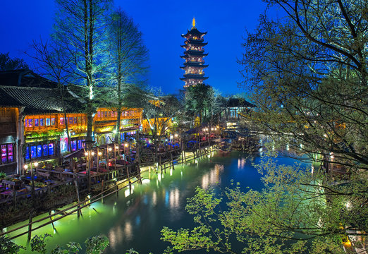 Wuzhen at night