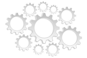 background many gears grays