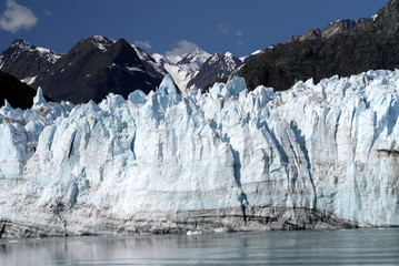 Margerie Glacier with the southern slopes of Mount Root in the back, Glacier Bay, Alaska
